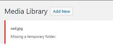 """Lỗi demo """"Thiếu thư mục tạm thời"""" trong WordPress"""
