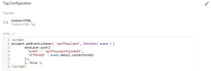 Cài đặt chuyển đổi sự kiện contact form 7 cho google adwords & google analytics bằng tag manager